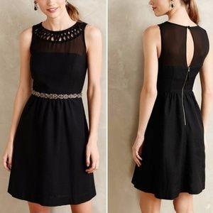 Anthopologie Black Cocktail Dress